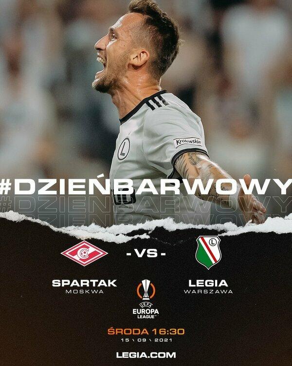 Dzisiaj Legia zaczyna zmagania w fazie grupowej Ligi Europy