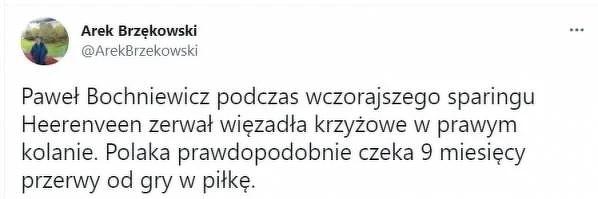 Dramat Pawła Bochniewicza. Poważna kontuzja przed startem sezonu